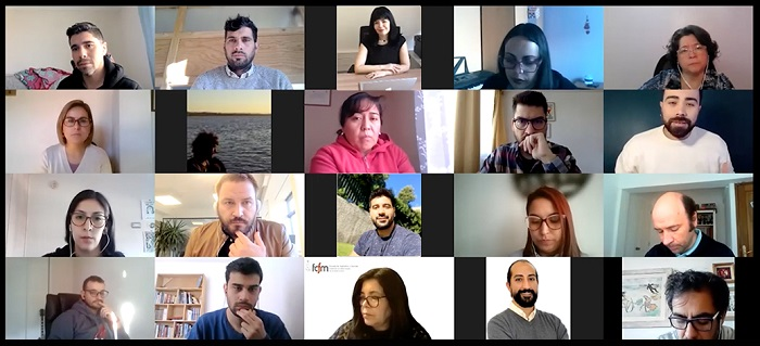 Coordinadores Ucampus reunidos vía Zoom
