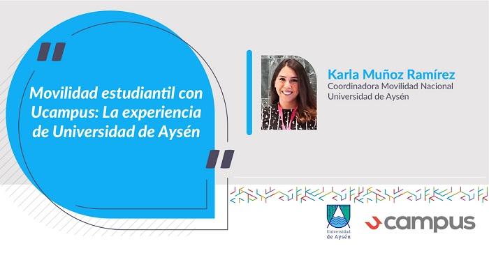 Coordinadora de Movilidad Nacional de la Universidad de Aysén
