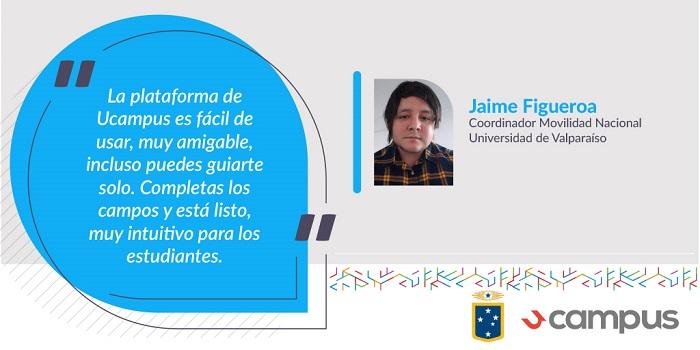 Coordinador de Movilidad Nacional de la Universidad de Valparaíso comentar experiencia con Ucampus.